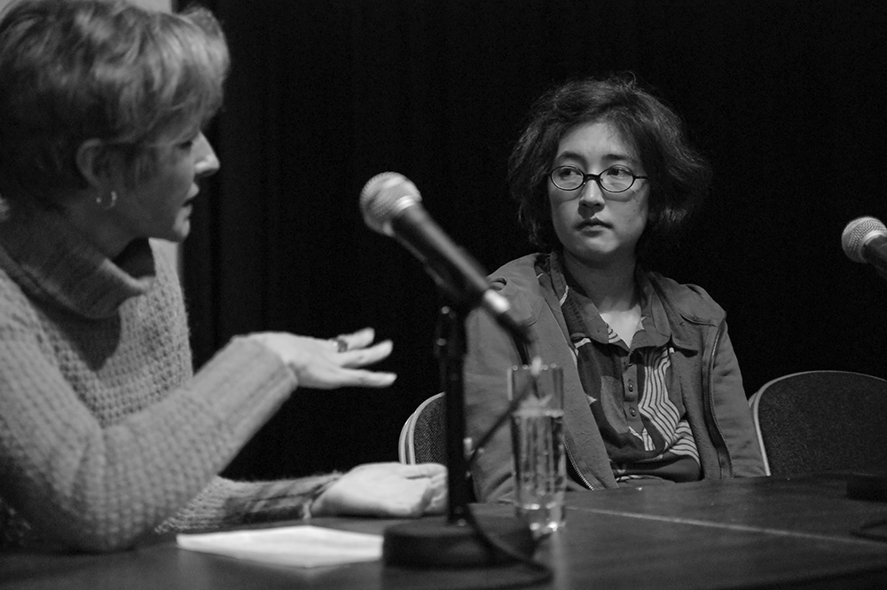 Birgit Kohler, Susanne Mi-Son Quester v.l. © Duisburger Filmwoche, Foto: Simon Bierwald