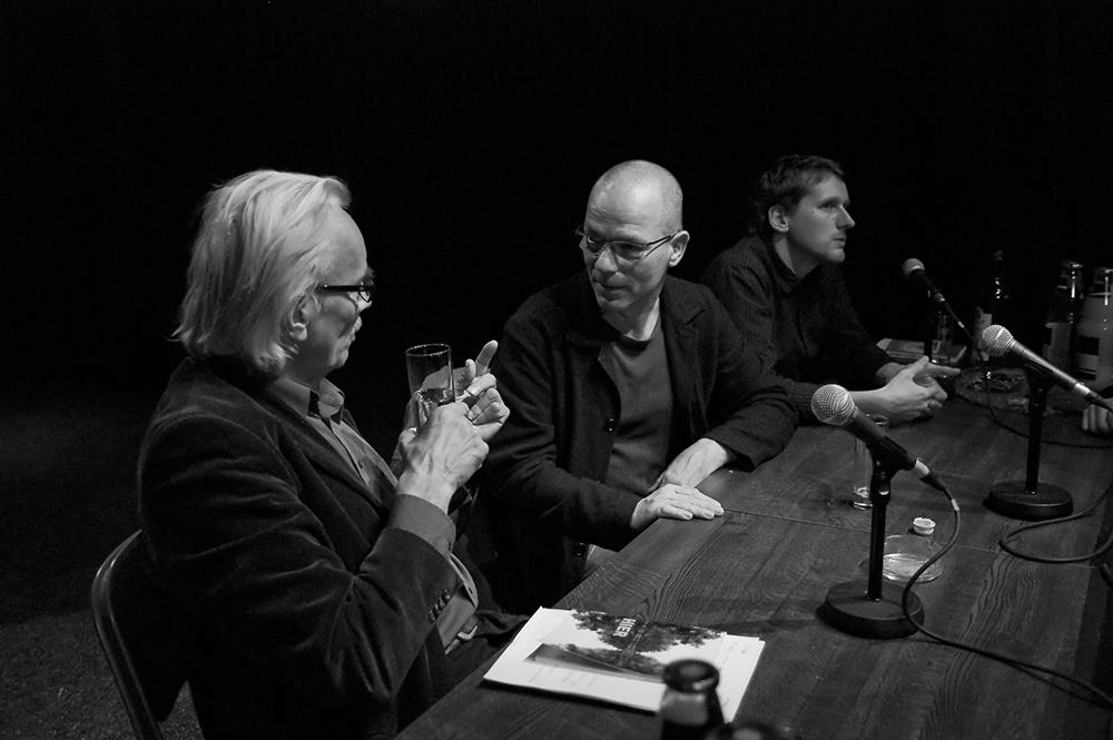 Werner Dütsch, Thomas Heise, Börres Weiffenbach v.l. © Duisburger Filmwoche, Foto: Simon Bierwald