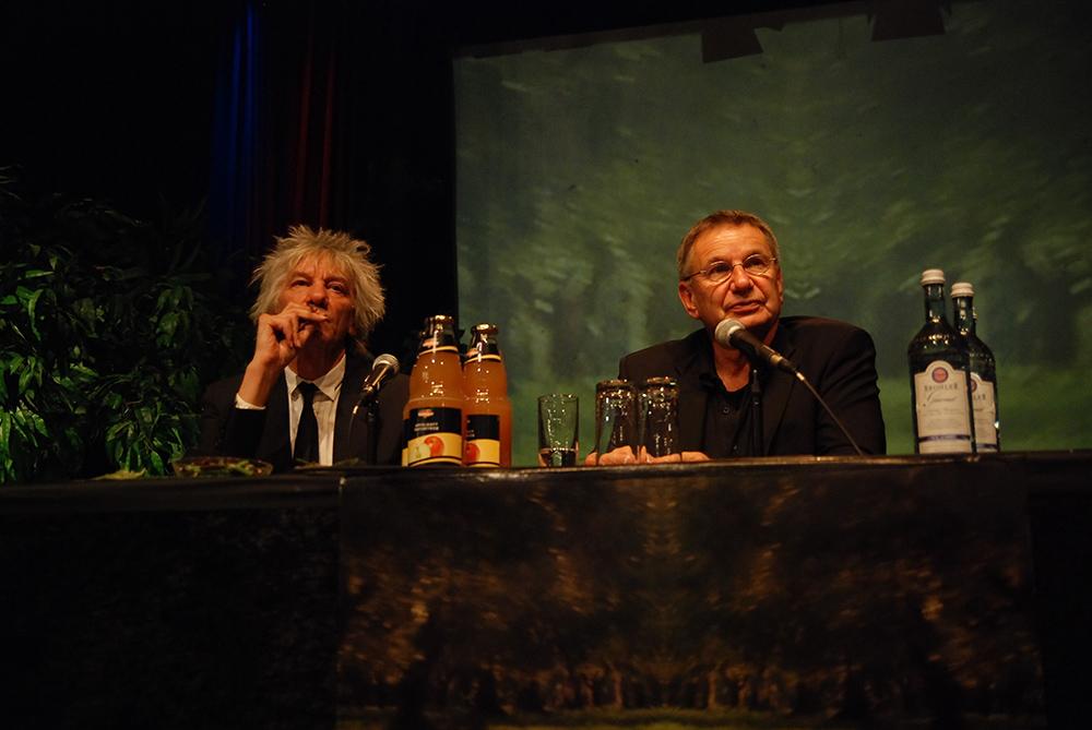 Werner Ružička, Volker Koepp v.l. © Duisburger Filmwoche, Foto: Simon Bierwald