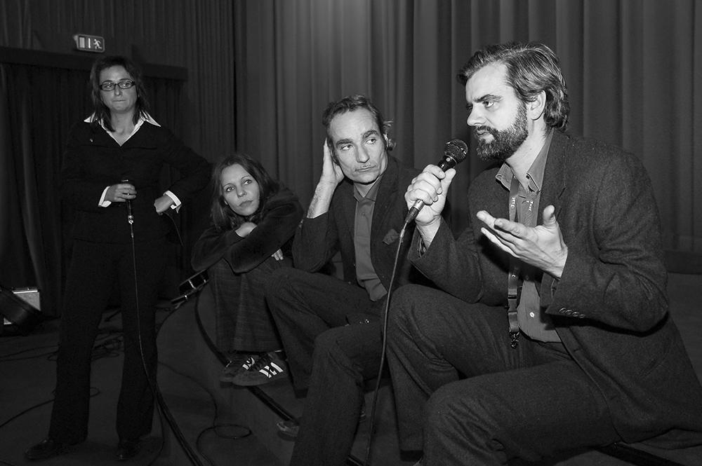Gudrun Sommer, Jessica Manstetten, Ted Gaier, Peter Ott v.l. © Duisburger Filmwoche, Foto: Simon Bierwald