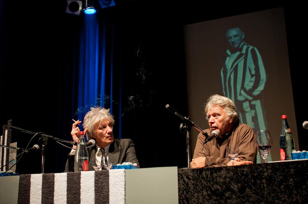 Werner Ružička, James Benning v.l. © Duisburger Filmwoche, Foto: Simon Bierwald