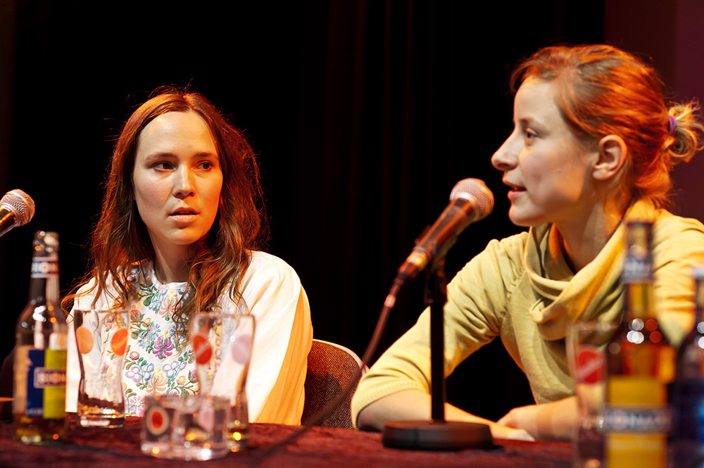 Andrea Roggon, Petra Lisson v.l. © Duisburger Filmwoche, Foto: Simon Bierwald