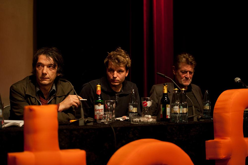 Bernd Schoch, Simon Quack, Alexander von Schlippenbach v.l. © Duisburger Filmwoche, Foto: Simon Bierwald