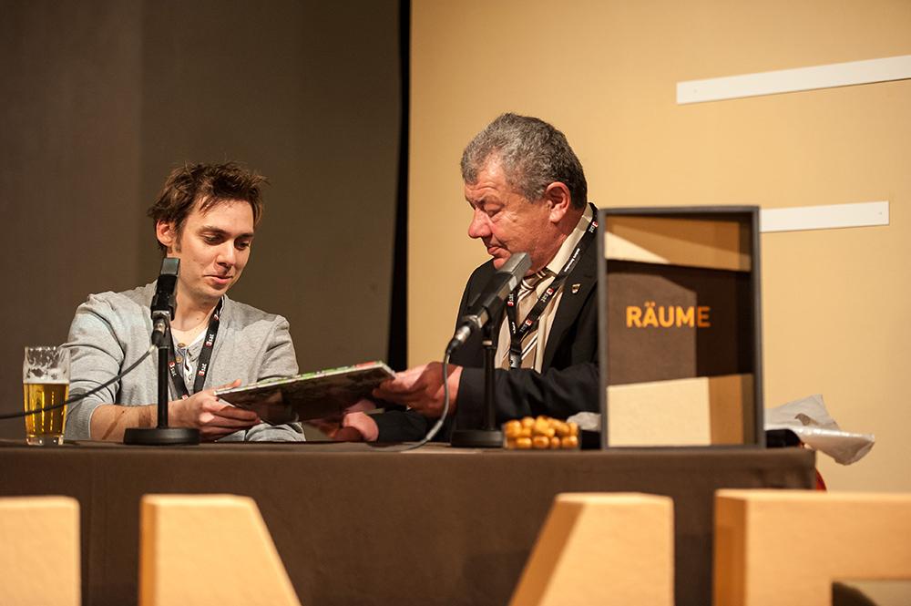 Florian Pawliczek, Rainer Bongart v.l. © Duisburger Filmwoche, Foto: Simon Bierwald
