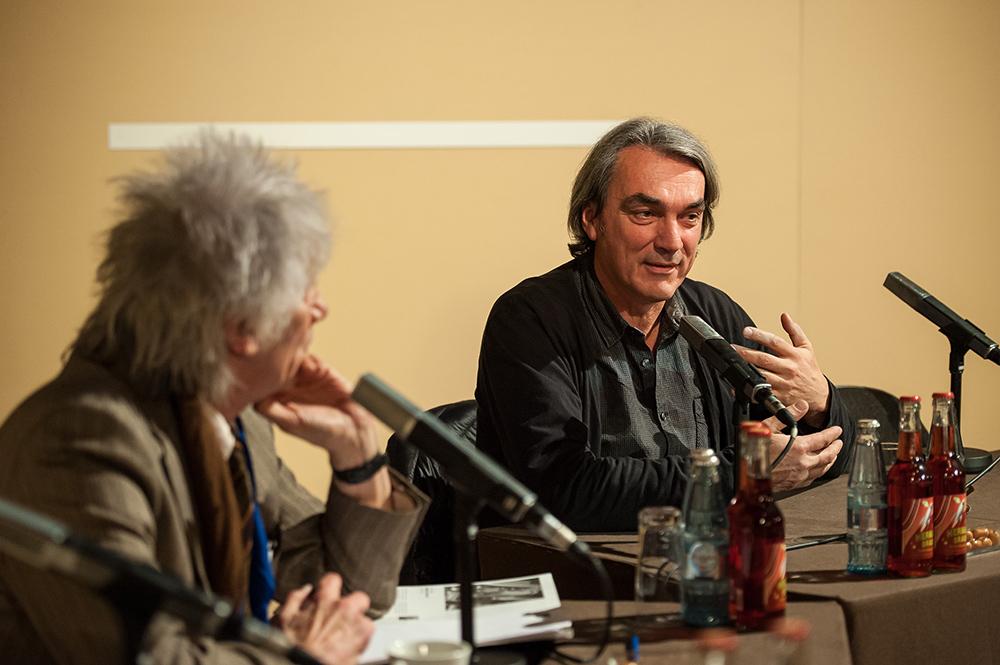Werner Ružička, Gerd Kroske v.l. © Duisburger Filmwoche, Foto: Simon Bierwald
