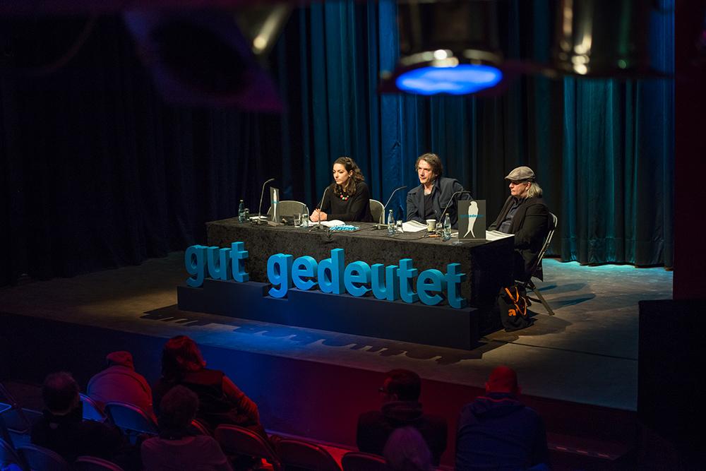 Pary El-Qalqili, Bernd Schoch, Pepe Danquart v.l. © Duisburger Filmwoche, Foto: Simon Bierwald
