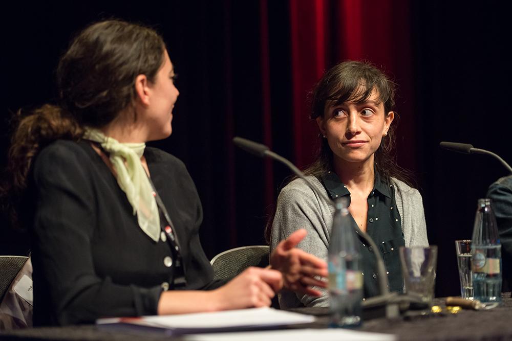 Pary El-Qalqili, Diana Menestrey Schwieger v.l. © Duisburger Filmwoche, Foto: Simon Bierwald