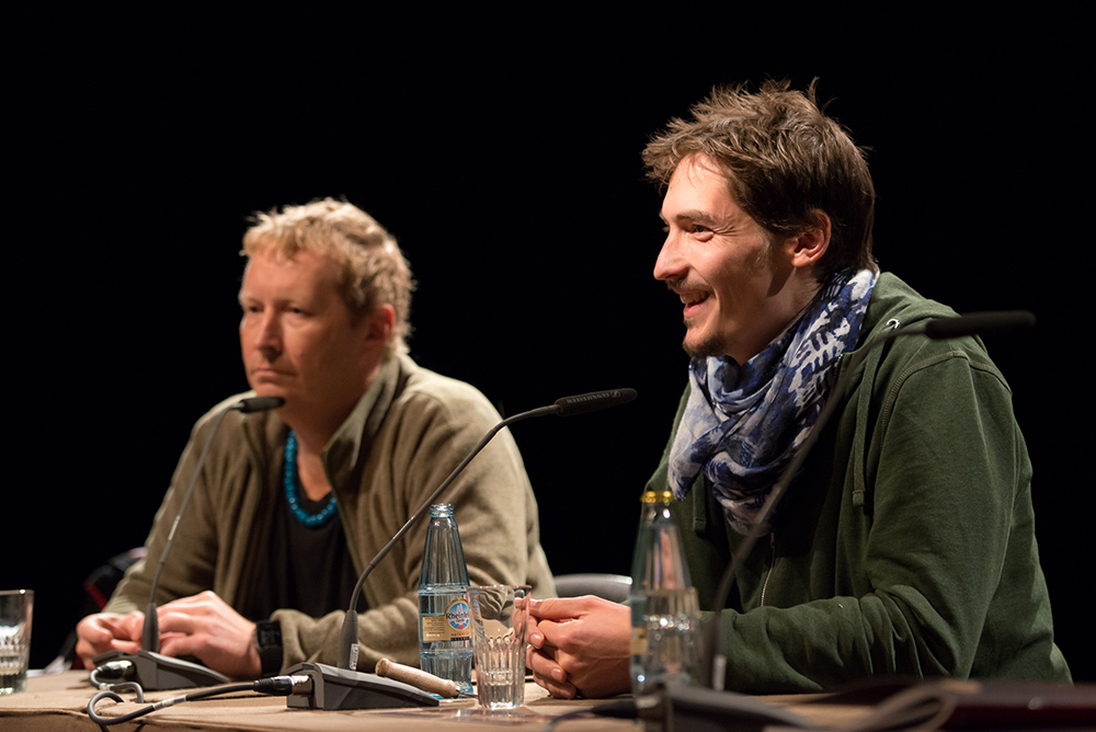 Till Brockmann, Elí Roland Sachs v.l. © Duisburger Filmwoche, Foto: Simon Bierwald