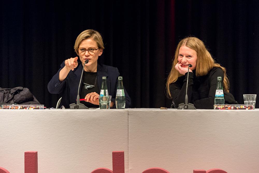 Henrike Meyer, Irina Heckmann v.l. © Duisburger Filmwoche, Foto: Simon Bierwald