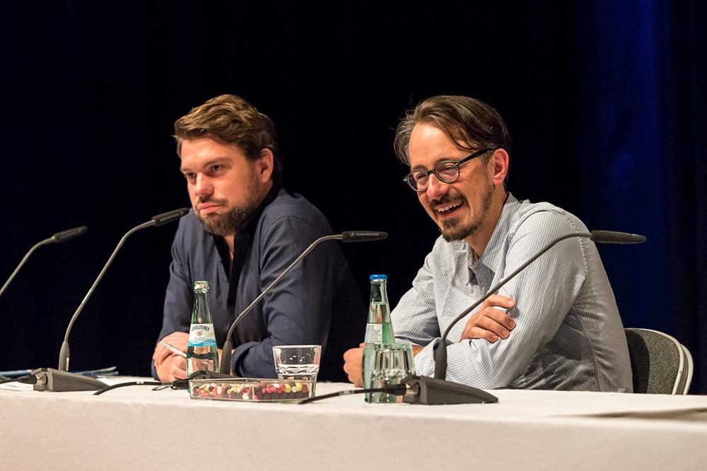 Sven Ilgner, Till Cöster v.l. © Duisburger Filmwoche, Foto: Simon Bierwald