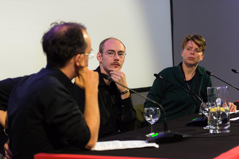 Alejandro Bachmann, Lukas Reiter, Alex Gerbaulet v.l. © Duisburger Filmwoche, Foto: Simon Bierwald