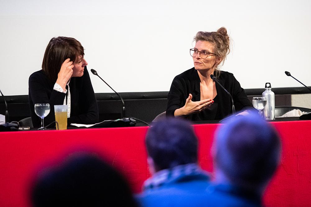Anja Dreschke, Christiana Perschon v.l. © Duisburger Filmwoche, Foto: Simon Bierwald