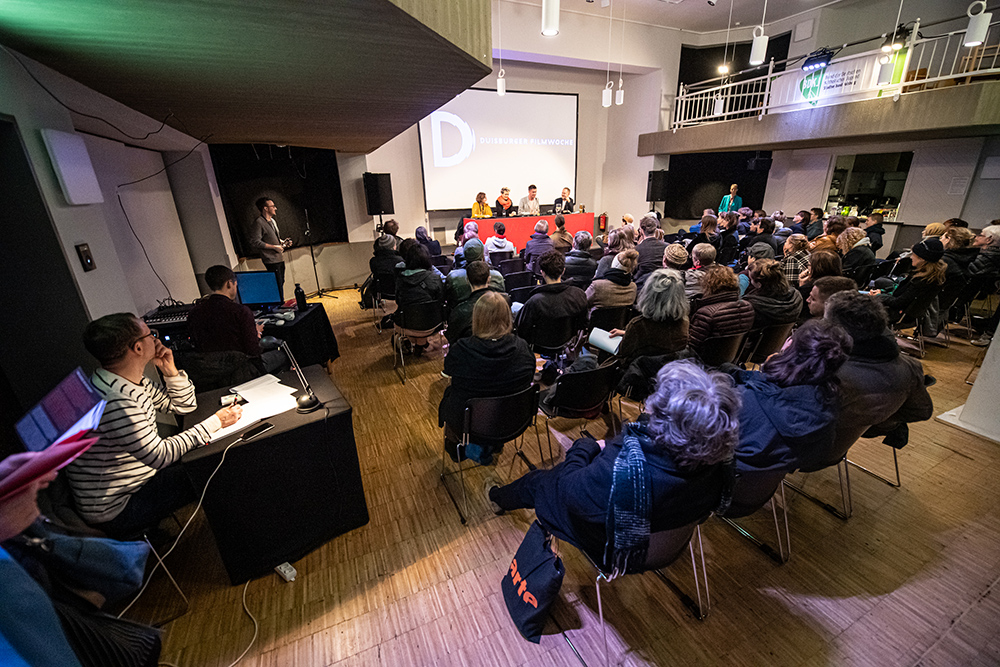 Natali Barrey, Marie-Catherine Theiler, Stéphane Riethauser, Jan Künemund v.l. © Duisburger Filmwoche, Foto: Simon Bierwald