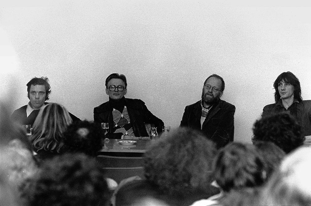 Rainer Komers, Günter Westerhoff, Klaus Wildenhahn, Werner Ružička v.l. © Kinemathek im Ruhrgebiet, Foto: Paul Hofmann