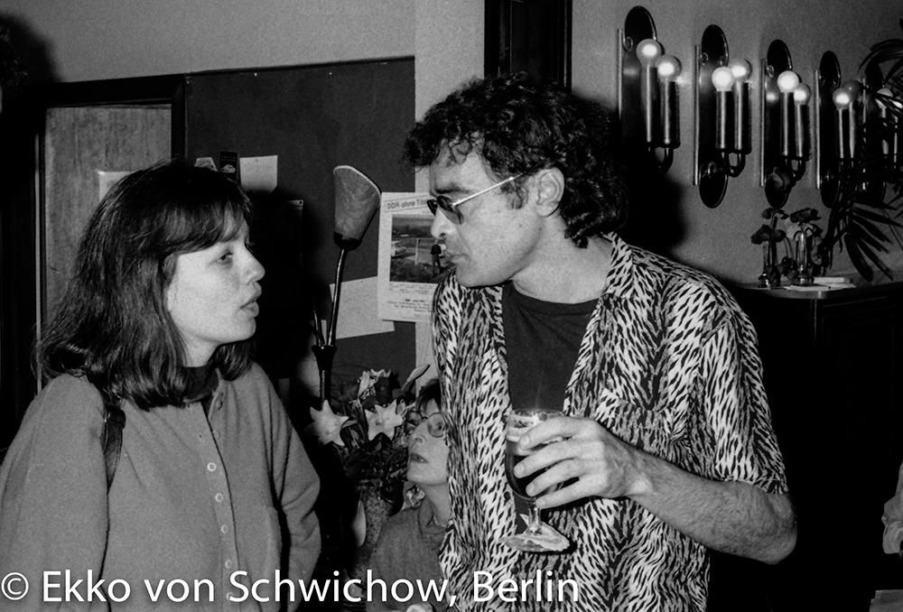 Christa Blümlinger, Harun Farocki v.l. © Ekko von Schwichow