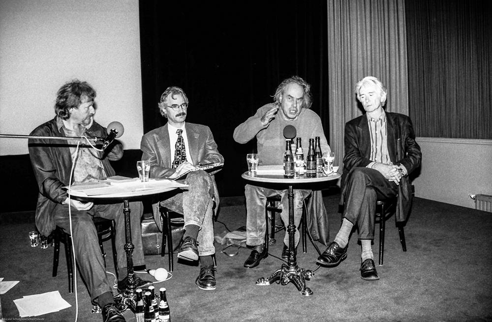 Klaus Theweleit, Manfred Schneider, Karl Heinz Bohrer, Klaus Kreimeier v.l. © Ekko von Schwichow