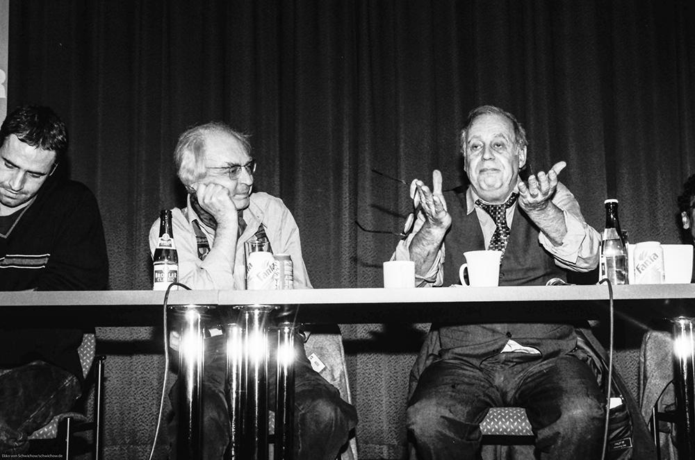 Mark Terkessidis, Hans G Helms, Jean Ziegler v.l. © Ekko von Schwichow